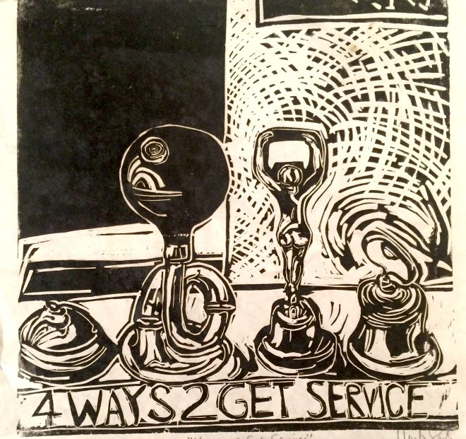 4ways2getservice,created after many dinners served with these noise makers for food pick up.