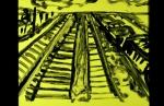 yellow train yard painting