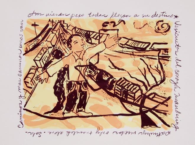 """Trapeze, serigraph, 111/2""""x141/2"""" Coronado Studio,"""